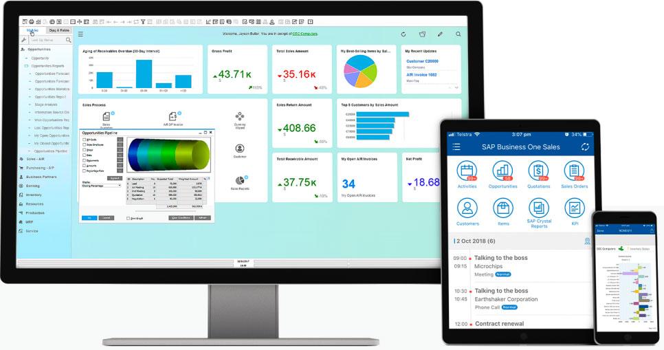 SAP Business One תוכנה לניהול